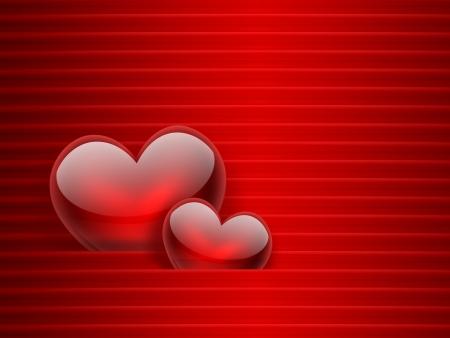 sfondo romantico: Sfondo romantico con cuori rossi Archivio Fotografico