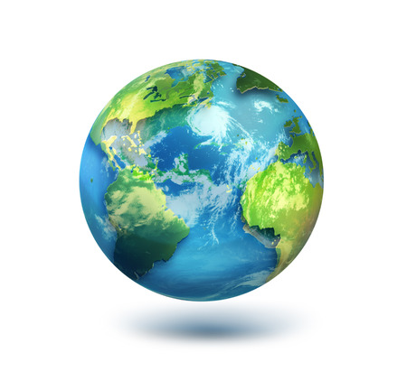 globe earth: globe on white background.Elements of this image furnished by NASA.
