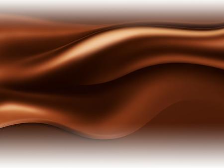 Chocolate wave on white