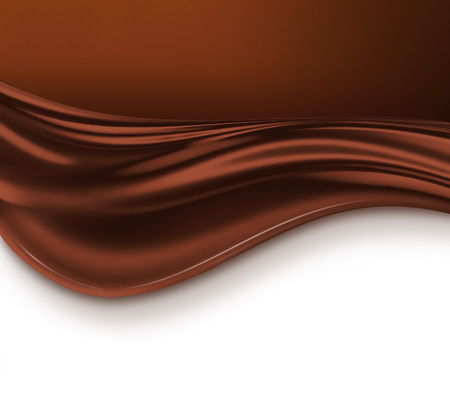 rippled: Chocolate wave on white