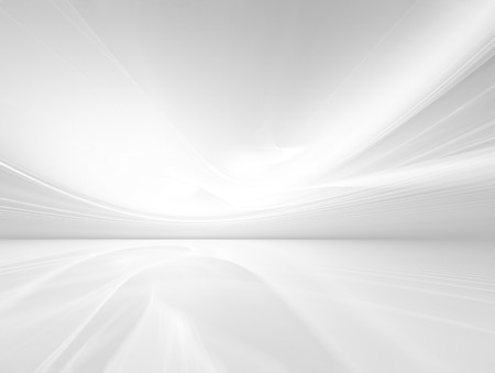 by light: abstract white background with smooth lines