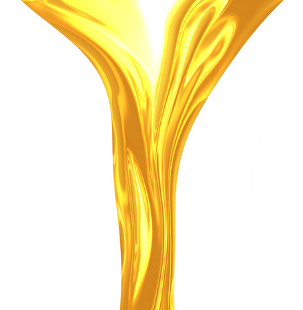 liquid material: oil flow isolated on white background