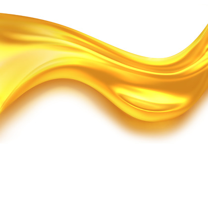 liquid gold: Oil Wave on a white background Stock Photo