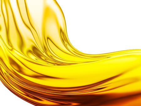 fioul: Vague à l'huile sur un fond blanc