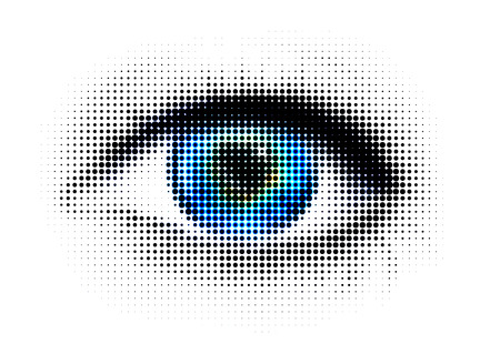 abstract eye: human eye with dots Stock Photo
