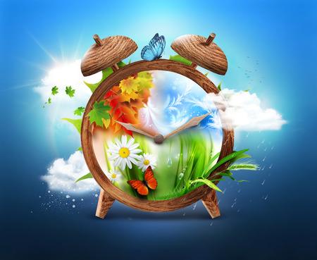 Four Seasons - Time concept design Banque d'images