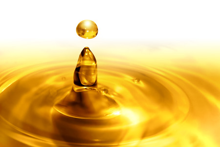 aceites: el goteo de aceite de cerca
