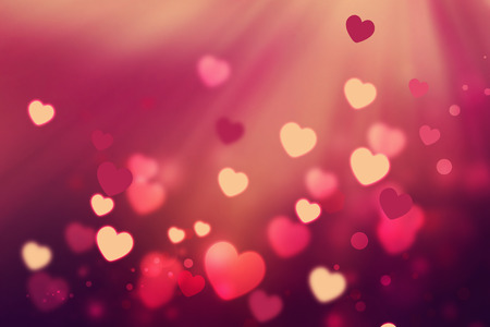romantic background with shining hearts