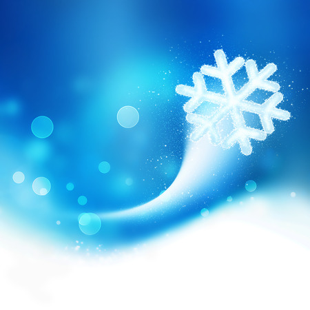 seasons greetings: Abstract winter background with smooth light lines Stock Photo