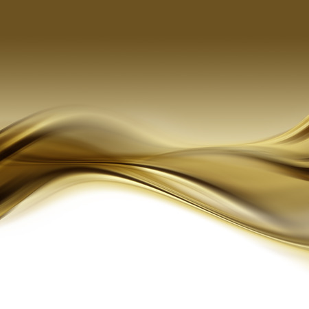 wave backdrop: abstract gold background with smooth lines Stock Photo