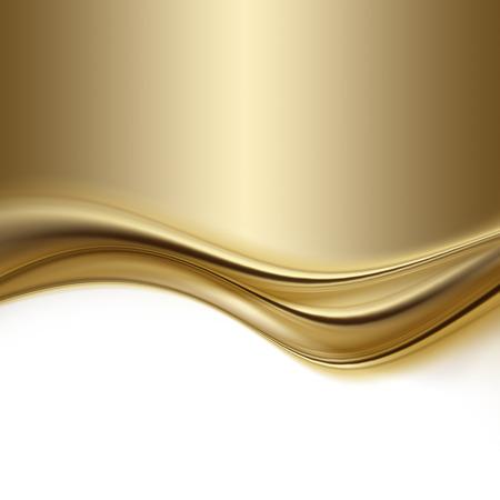 Fondo de oro abstracto con líneas suaves Foto de archivo - 32458383