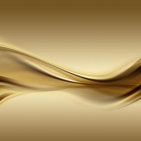 滑らかなラインと抽象的なゴールドの背景