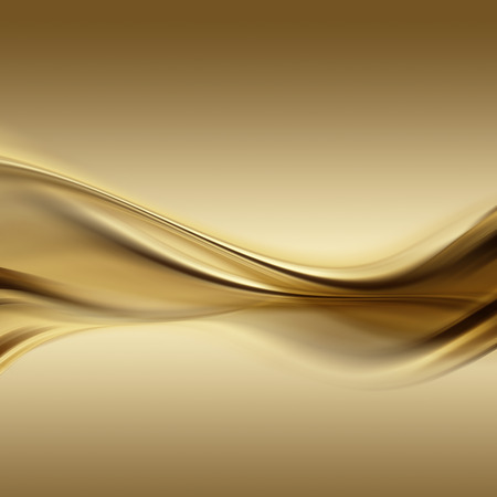gold colour: abstract gold background with smooth lines Stock Photo