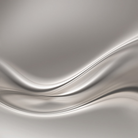 abstract silver background with smooth lines Stockfoto