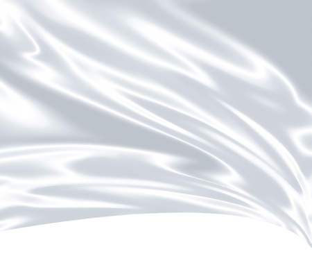 fabric design: Closeup of white satin fabric as background