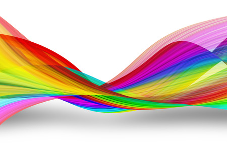 swirl patterns: rainbow striped waves background Stock Photo