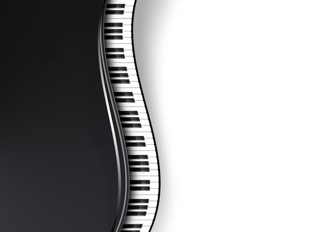 musical background with piano keys Stock Photo