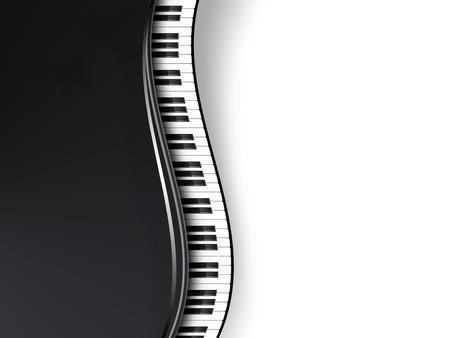 musical background with piano keys Standard-Bild