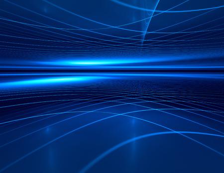 青い水平線の未来の技術の背景 写真素材