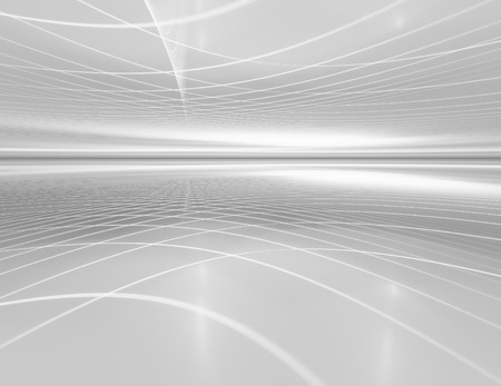 white horizon futuristic technology background