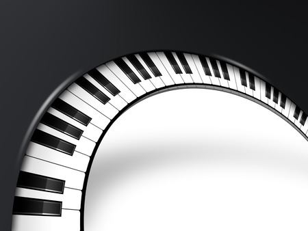 Background musicale con tasti di pianoforte Archivio Fotografico - 34629520