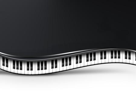 muzikale achtergrond met piano toetsen