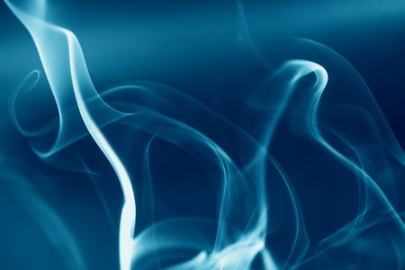 entertainment background: abstract blue background with smoke