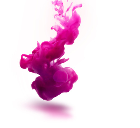 pink ink underwater as abstract background for your project