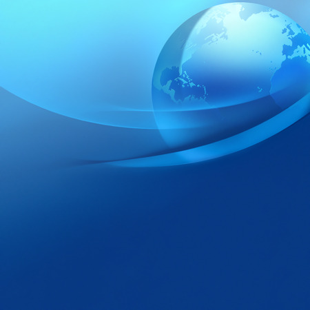 abstract business background with world photo
