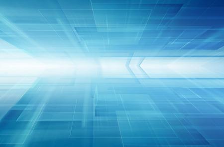 blauen Horizont futuristische Technologie-Hintergrund