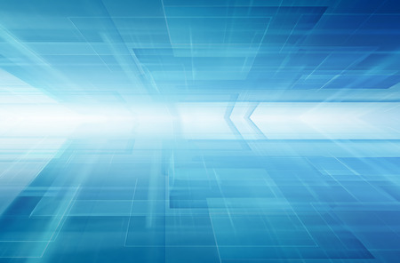 blauwe horizon futuristische technologie achtergrond