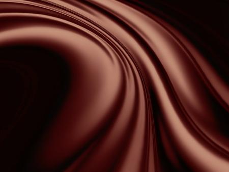チョコレートの波 - 抽象的な背景