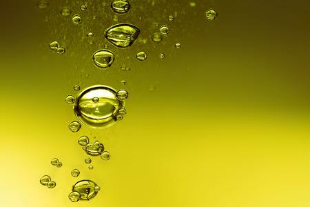 liquido: Fondo de aceite con burbujas de aire