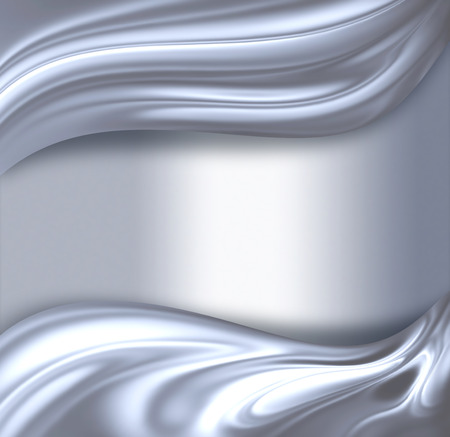 striped background: abstract chrome wave on light background Stock Photo