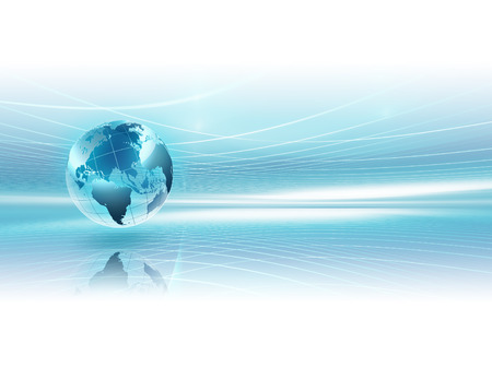 abstract business background with world Foto de archivo