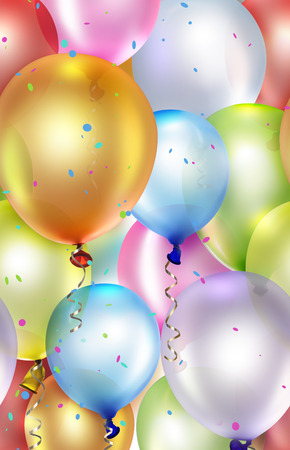 festive background with colorful balloons