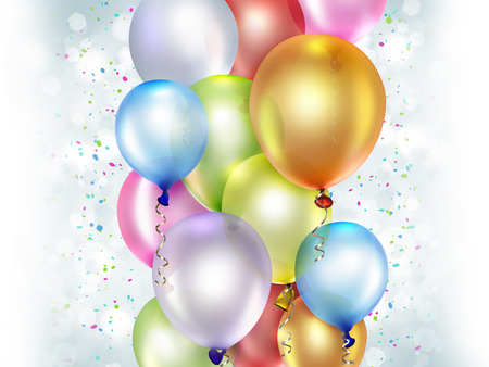 festive: festive background with colorful balloons