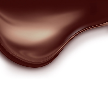 wave of liquid chocolate on white background Фото со стока - 41915153