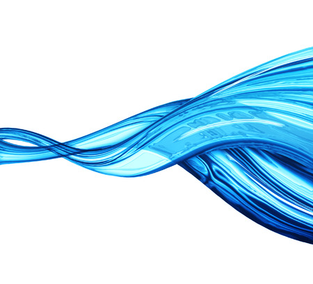 abstract water wave - computer generated  for your projects Stock Photo