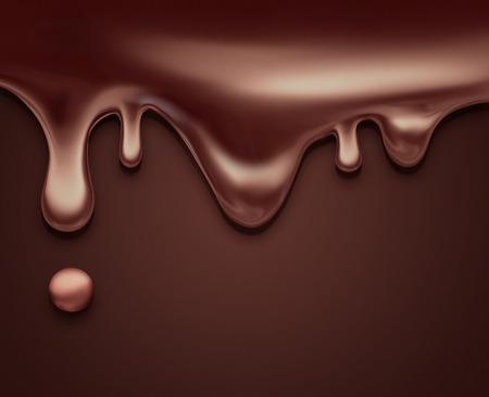 Chocolat liquide qui coule comme fond Banque d'images - 41915750