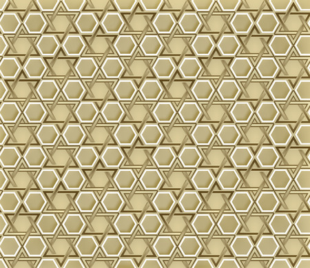 seamless pattern with Star of David Stock Photo