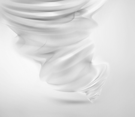 whirlwind: abstract white tornado on light background