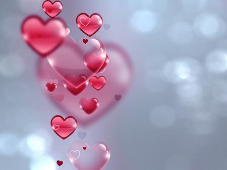 sfondo romantico: romantic background with hearts