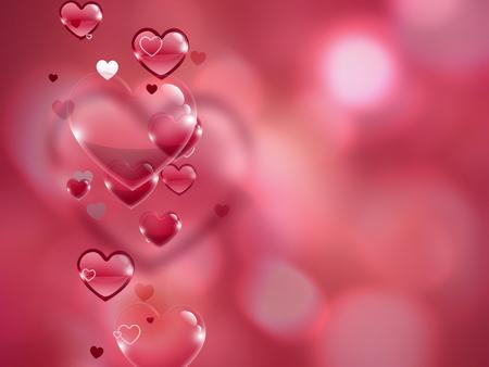 sfondo romantico: Pink romantic background with hearts Archivio Fotografico
