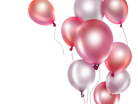 festive background with red balloons