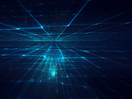 horizonte: Fondo futurista con horizonte fractal
