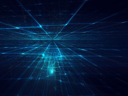 gitter: futuristisch Hintergrund mit fraktalen Horizont