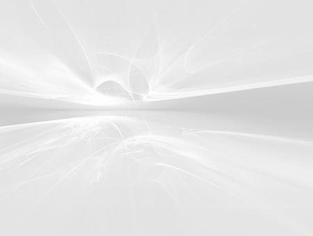 white futuristic background fractal horizon Foto de archivo