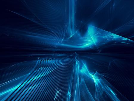 Futuristisch Hintergrund mit fraktalen Horizont Standard-Bild - 44444729