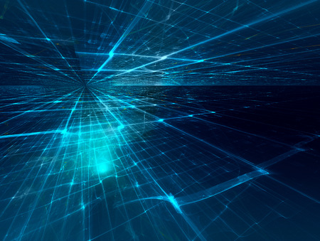 Futuristisch Hintergrund mit fraktalen Horizont Standard-Bild - 44444735